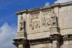 O imperador Constantim encontra os líderes e os prisioneiros bárbaros fotografia de stock