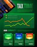 O imposto presta serviços de manutenção ao folheto ilustração royalty free