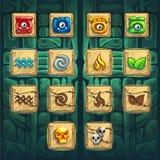 O impulsionador do GUI dos curandeiros da selva abotoa o jogo ilustração do vetor