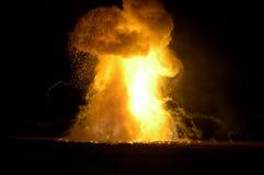 O incêndio explode Fotografia de Stock