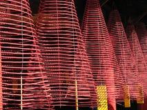 O incenso bobina no conjunto salão de Phuoc Kien, Hoi, Vietnam Foto de Stock