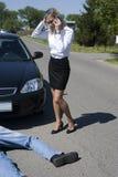 O incidente da estrada Imagens de Stock