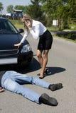 O incidente da estrada Foto de Stock