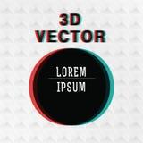 O inclinação do vetor arredonda o cartaz com efeito 3d Imagens de Stock