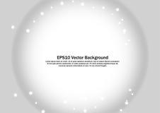 O inclinação radial abstrato cinzento e branco com efervescência stars o fundo Fotos de Stock
