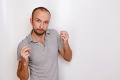 O indivíduo com a barba imagens de stock royalty free