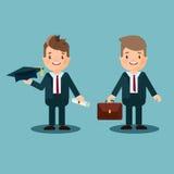 O indivíduo novo é um estudante Um especialista ou um gerente novo, um homem de negócios Fotografia de Stock