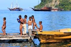 O indonésio caçoa a vida Foto de Stock Royalty Free