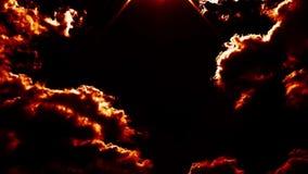 O inferno de sopro de queimadura ateia fogo à epopeia do lapso de tempo das nuvens cinemático filme