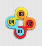 O infographics abstrato/pode ser usado como parte do menu da navegação do local, etc. Imagem de Stock Royalty Free