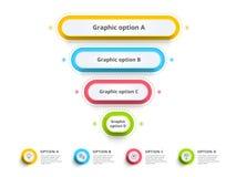 O infographics da carta de processo da etapa da pirâmide 4 com opção circunda f Imagem de Stock