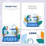 O inseto incorporado do estilo do conceito na analítica do negócio, no recolhimento da informação, na análise de dados, nos gráfi ilustração do vetor