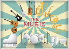O instrumento de música Fotos de Stock Royalty Free