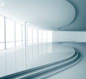 O interior abstrato 3d rende Imagens de Stock Royalty Free