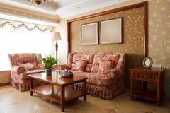 O interior caro luxuoso da sala de visitas Imagens de Stock