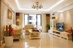 O interior caro luxuoso da sala de visitas Imagem de Stock Royalty Free