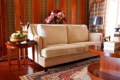 O interior caro luxuoso da sala de visitas Foto de Stock Royalty Free