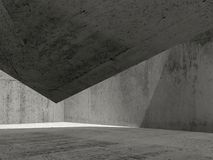 O interior concreto escuro abstrato, 3d rende ilustração royalty free