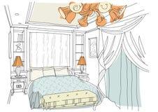 O interior contemporâneo rabisca o quarto Ilustração Royalty Free