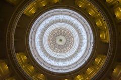 O interior da abóbada de Texas State Capitol em Austin, TX fotografia de stock