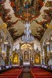 O interior da basílica Nossa Senhora de Catedral faz Pilar Our Lady da coluna - Sao Joao Del Rei, Minas Gerais, Brasil Fotos de Stock