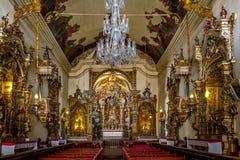 O interior da basílica Nossa Senhora de Catedral faz Pilar Our Lady da coluna - Sao Joao Del Rei, Minas Gerais, Brasil Imagens de Stock