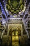 O interior da capela de Villaviciosa na mesquita mezquita do Mesquite em Córdova Espanha Andalucia imagens de stock