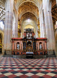 Interior do Santa Maria de Segovia, Spain Fotografia de Stock Royalty Free