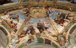 O interior da catedral DE SIRACUSA (Siracusa, Sarausa) imagens de stock