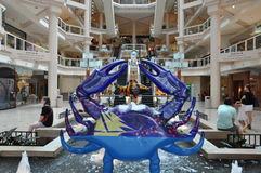 O interior da galeria em Harborplace em Baltimore, Maryland foto de stock