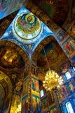 O interior da igreja Foto de Stock Royalty Free