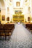 O interior da igreja Fotos de Stock Royalty Free