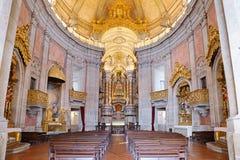 O interior da igreja Fotografia de Stock