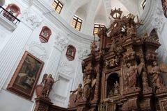 O interior da igreja de Saint Cajetan do providência Divine fotos de stock royalty free