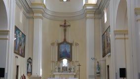 O interior da igreja de St Barbara filme