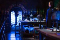 O interior da mágica do professor Snape entalha a coleção Decoração Warner Brothers Studio para Harry Potter Reino Unido Foto de Stock