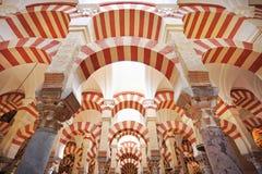 O interior da mesquita e da catedral de Córdova Imagens de Stock Royalty Free