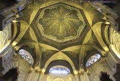 O interior da mesquita e da catedral de Córdova Fotografia de Stock