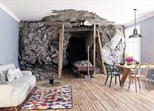 O interior da mina ilustração royalty free