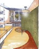 O interior da sala de visitas Imagens de Stock Royalty Free