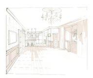 O interior da sala de visitas Fotografia de Stock Royalty Free