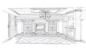 O interior da sala de visitas Foto de Stock Royalty Free