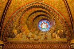 O interior de Matthias Church é uma igreja católica romana situada em Budapest Imagens de Stock Royalty Free