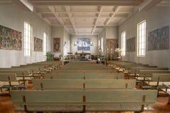 O interior de St-Joseph-de-la-rive a igreja, Quebeque fotografia de stock