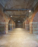 O interior de um tijolo fêz o compartimento de pó Imagem de Stock