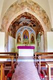 Igreja pequena do país Imagens de Stock