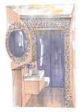 O interior do banheiro Imagem de Stock Royalty Free