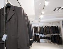 O interior do boutique de pano Foto de Stock