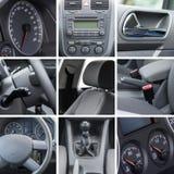 O interior do carro detalha a colagem Imagem de Stock Royalty Free