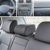 O interior do carro detalha a colagem Foto de Stock Royalty Free
